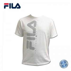FILA Cotton Graphic T-Shirt - D7 White (斐乐纯棉图形T恤-D7 白色)