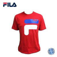 FILA Cotton Graphic T-Shirt - D9 Red (斐乐纯棉图形T恤-D9 红色)
