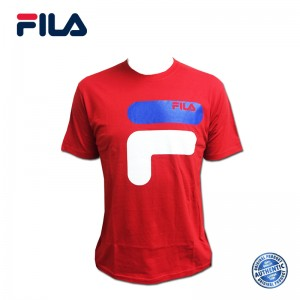 FILA Cotton Graphic T-Shirt - D11 Red