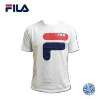 FILA Cotton Graphic T-Shirt - D9 White (斐乐纯棉图形T恤-D9 白色)