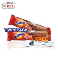 (TWIN PACK) Ovaltine Chocolate Malt Cookies FREE 1x Maison de Gigi Premix Coffee ((双套)阿华田巧克力麦芽曲奇饼干免费Maison de Gigi摩卡咖啡粉一包)