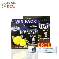 (TWIN PACK) Himalaya Salt Mint Candy FREE 1x Maison de Gigi Premix Coffee (2盒Himalaya海盐糖免费Maison de Gigi摩卡咖啡粉一包)